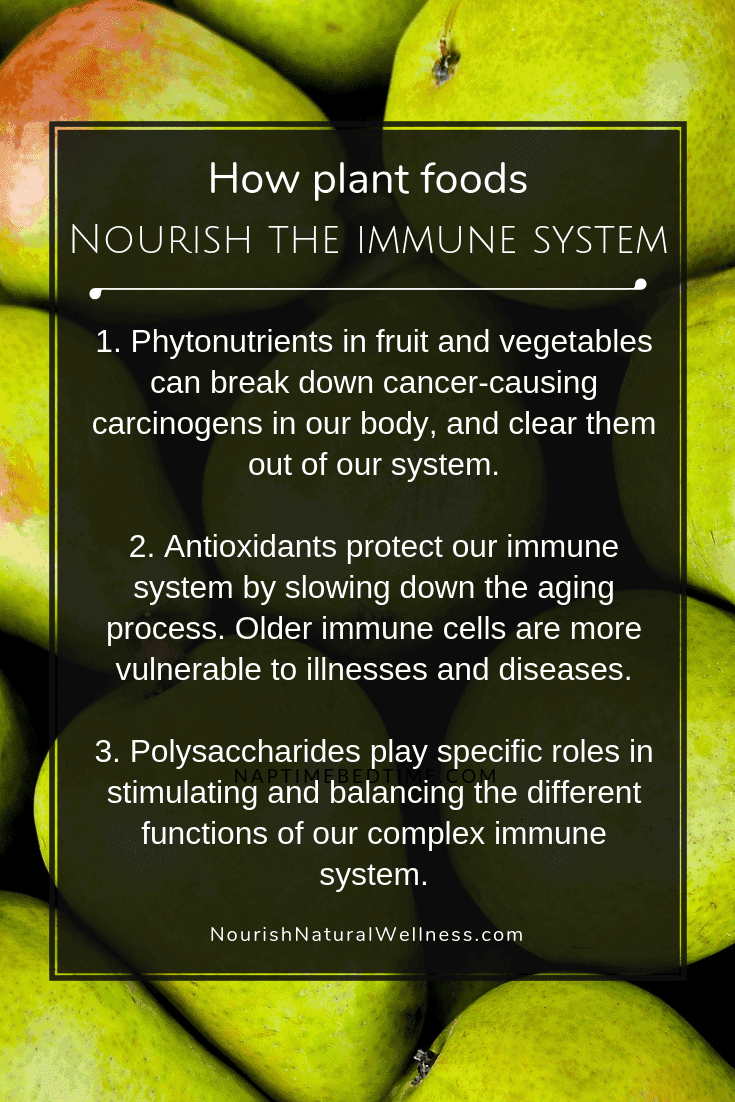 How plant foods nourish the immune system on Nourish Natural Wellness