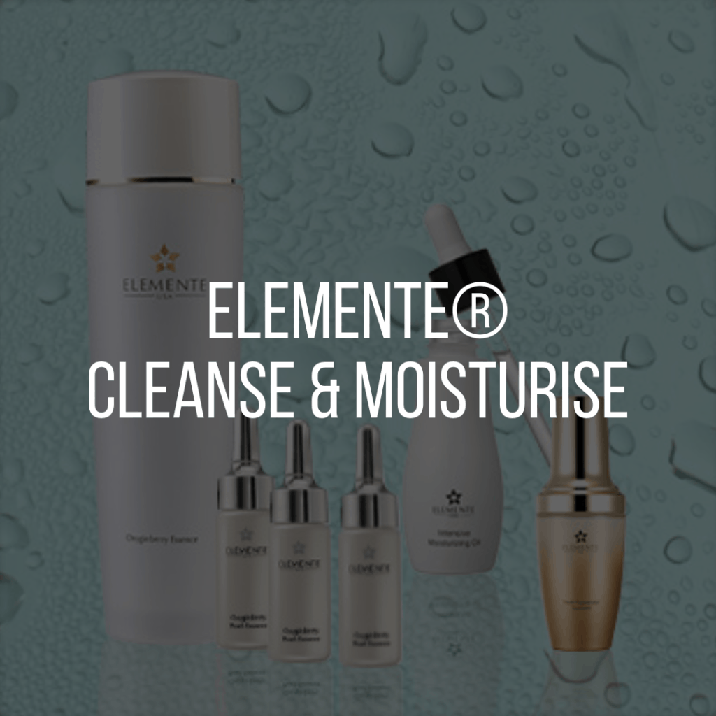 E. Excel Elemente cleanse and moisture skin care on Nourish Natural Wellness