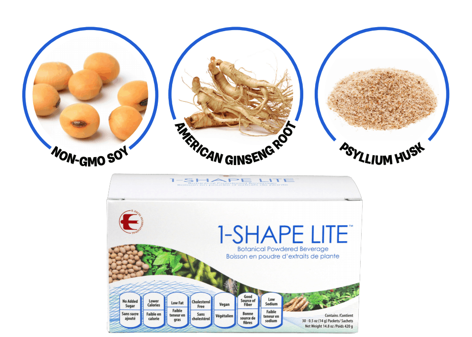 E Excel Nutritional Immunology 1-SHAPE LITE weight management support on Nourish Natural Wellness