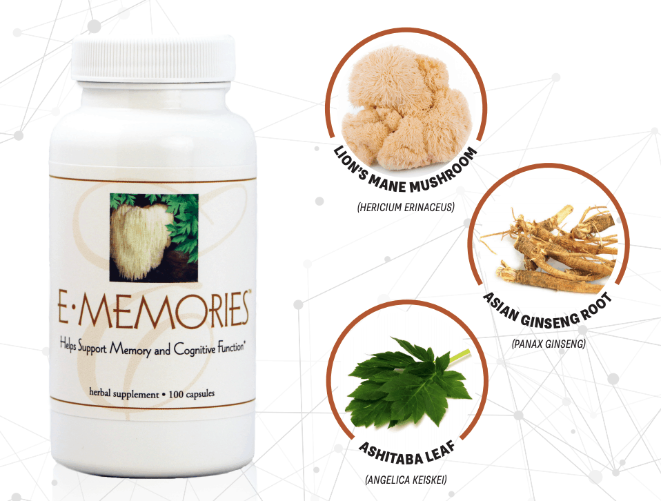 E Excel Nutritional Immunology E-MEMORIES mental clarity and focus support on Nourish Natural Wellness