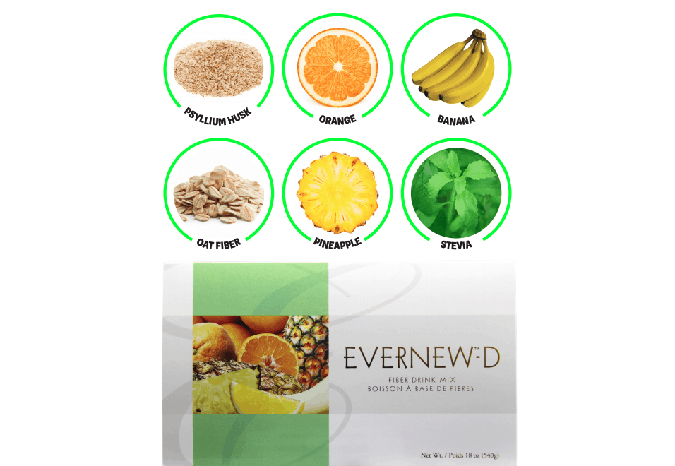 E Excel Nutritional Immunology EVERNEW-D low sugar fiber-rich nutrition support on Nourish Natural Wellness