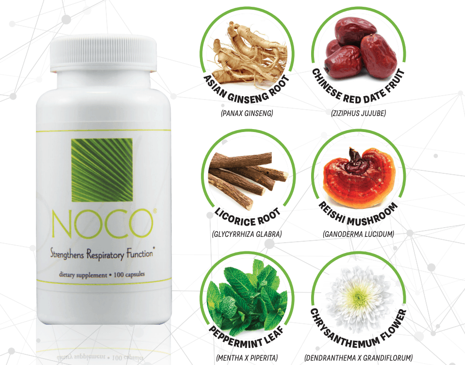 E Excel Nutritional Immunology NOCO respiratory support on Nourish Natural Wellness