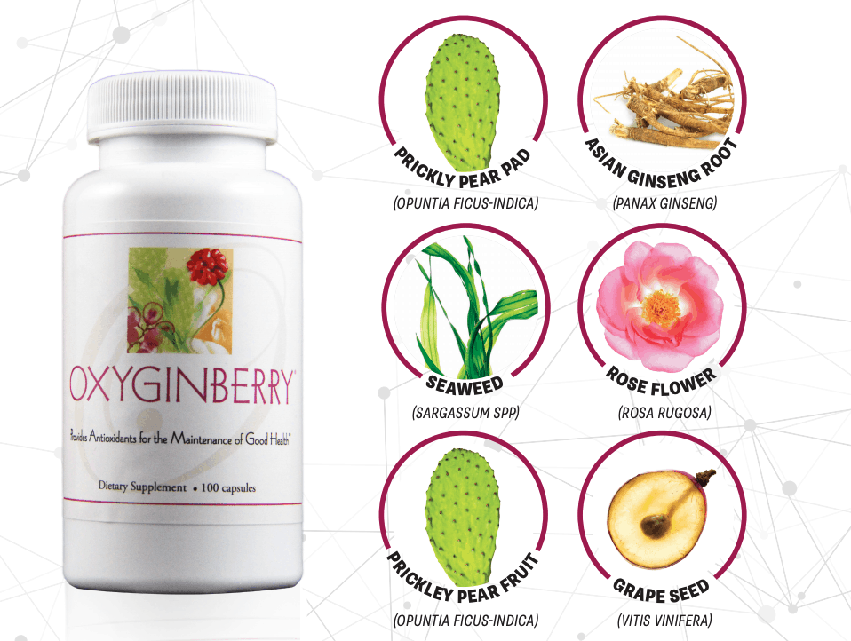E Excel Nutritional Immunology OXYGINBERRY CAPSULES skin hair and nails nourishment on Nourish Natural Wellness