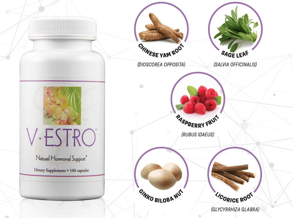 E Excel Nutritional Immunology V-ESTRO hormonal support on Nourish Natural Wellness