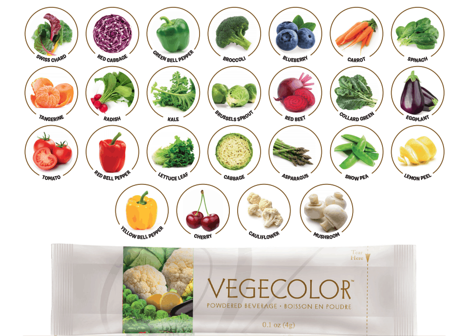 E Excel Nutritional Immunology VEGECOLOR whole plant based vegetables mix on Nourish Natural Wellness