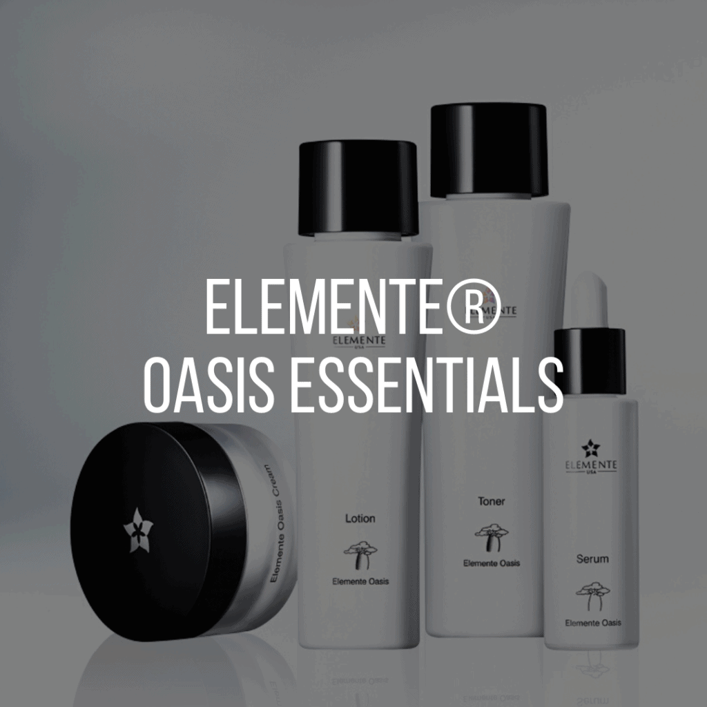 E. Excel Elemente oasis essentials skin care on Nourish Natural Wellness