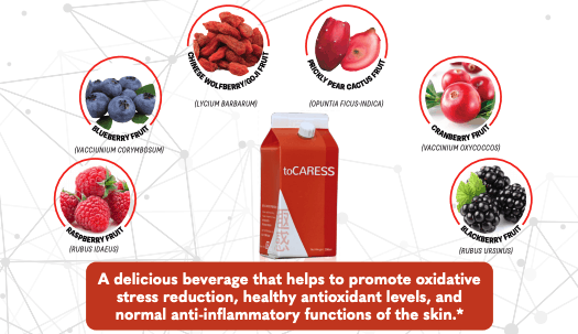 E. Excel toCaress antioxidants anti inflammation support on Nourish Natural Wellness