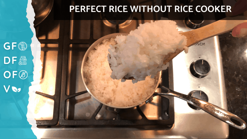How to Make Fluffy Rice On Stove [Without Rice Cooker] | Gluten Free, Oil Free, Plant Based + Vegan on Nourish TV Healthy Recipes