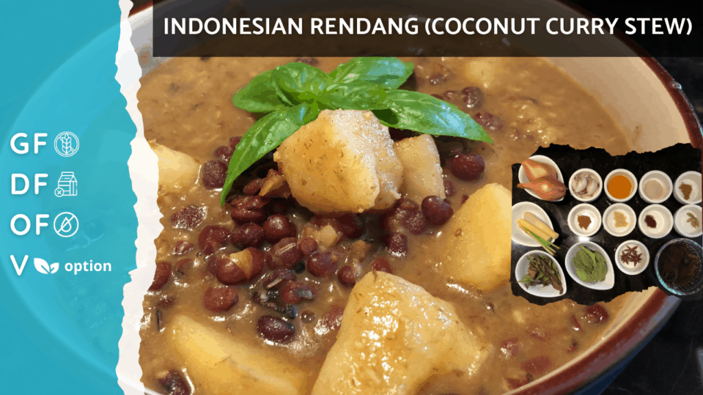Healthier Indonesian Rendang [Coconut Curry Stew] NO MEAT, Oil Free, Gluten Free, Vegan Option on Nourish TV Healthy Recipes