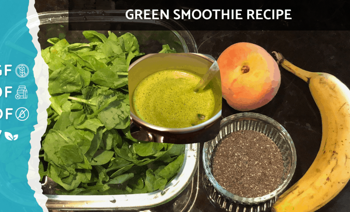 Spinach, Peach, Banana & Chia | Green Smoothie Recipe That Tastes Good [Autoimmune Health Solutions]