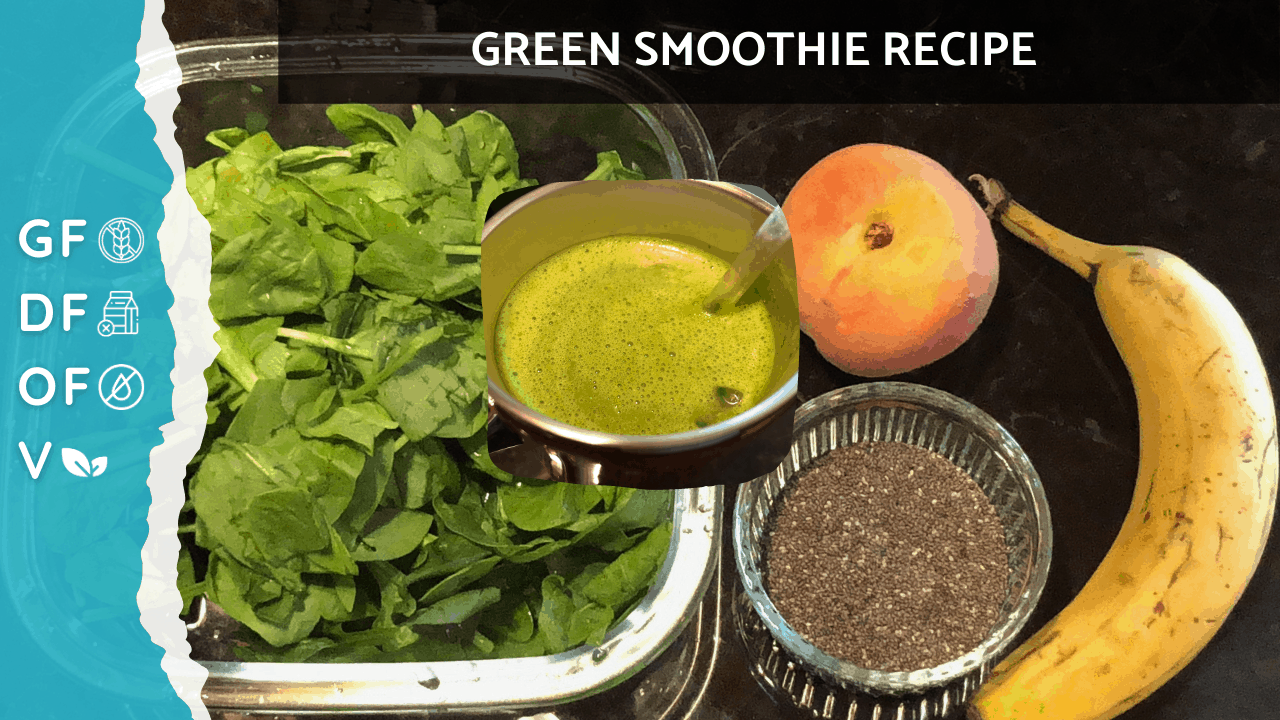 Spinach, Peach, Banana & Chia | Green Smoothie Recipe That Tastes Good [Autoimmune Health Solutions] on Nourish TV Healthy Recipes