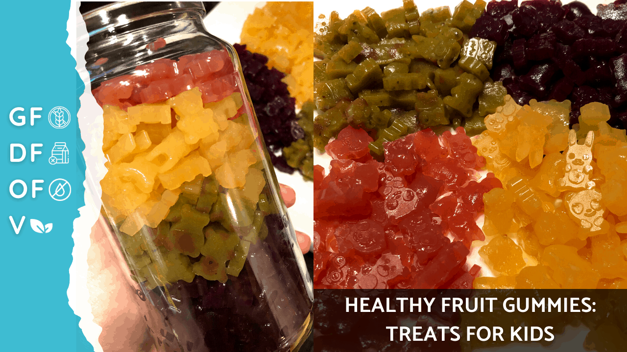 Fruit Gummies Recipe || Gummy Fruit Snacks Recipe || Healthy Fruit Treats || Healthy Treats for Kids on Nourish TV Healthy Recipes