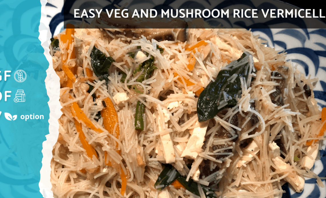 Stir Fry Rice Vermicelli Noodles Recipe | Vegan Plant Based Option & Gluten Free [Easy Boil Method]