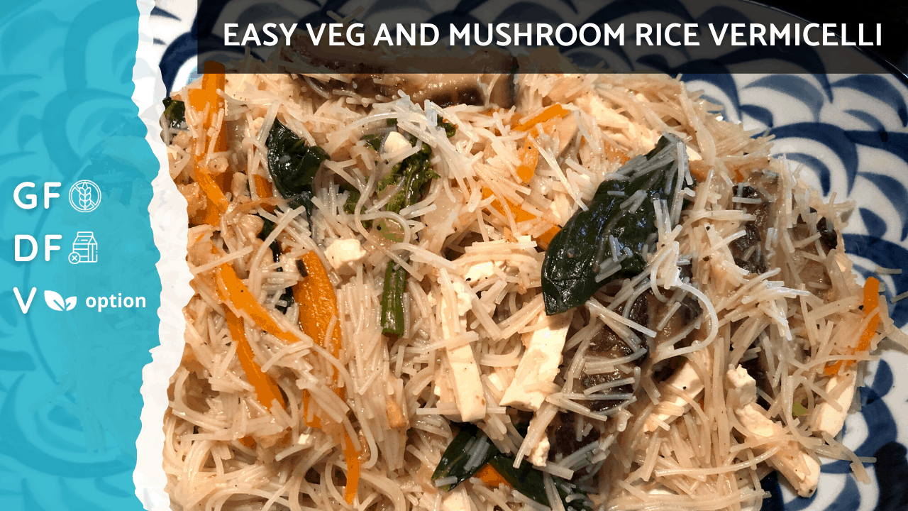 Stir Fry Rice Vermicelli Noodles Recipe | Vegan Plant Based Option & Gluten Free [Easy Boil Method] on Nourish TV Healthy Recipes