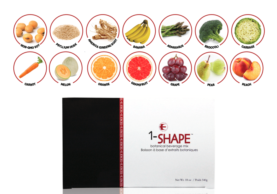 E Excel Nutritional Immunology 1-SHAPE weight management support on Nourish Natural Wellness