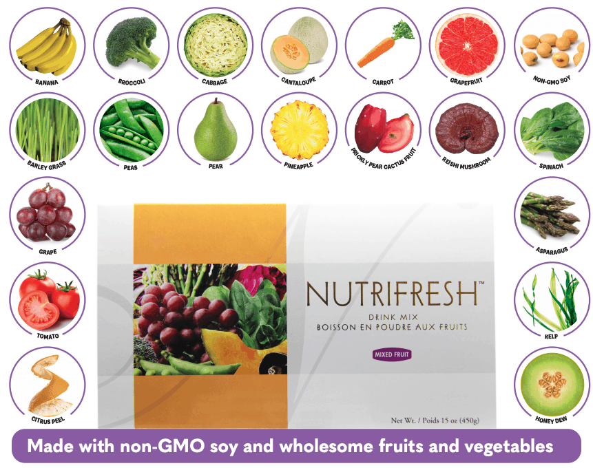 E Excel Nutritional Immunology NUTRIFRESH fat free nourishing botanicals nutrition support on Nourish Natural Wellness