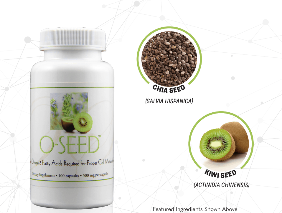 E Excel Nutritional Immunology O-SEED plant based omega 3 on Nourish Natural Wellness