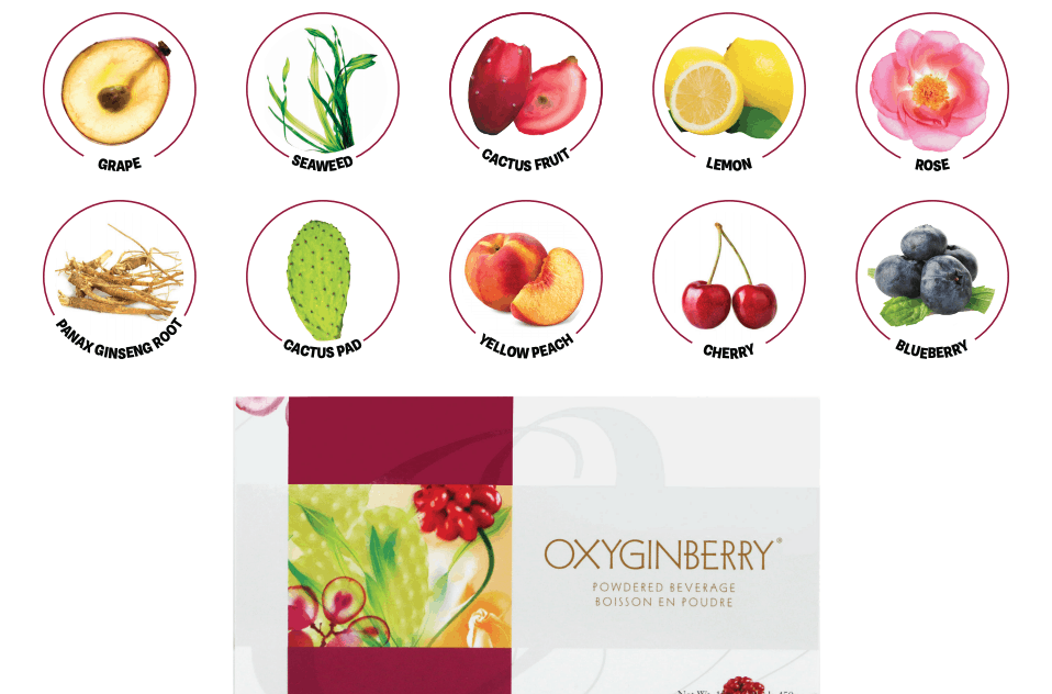 E Excel Nutritional Immunology OXYGINBERRY BEVERAGE health and beauty support on Nourish Natural Wellness