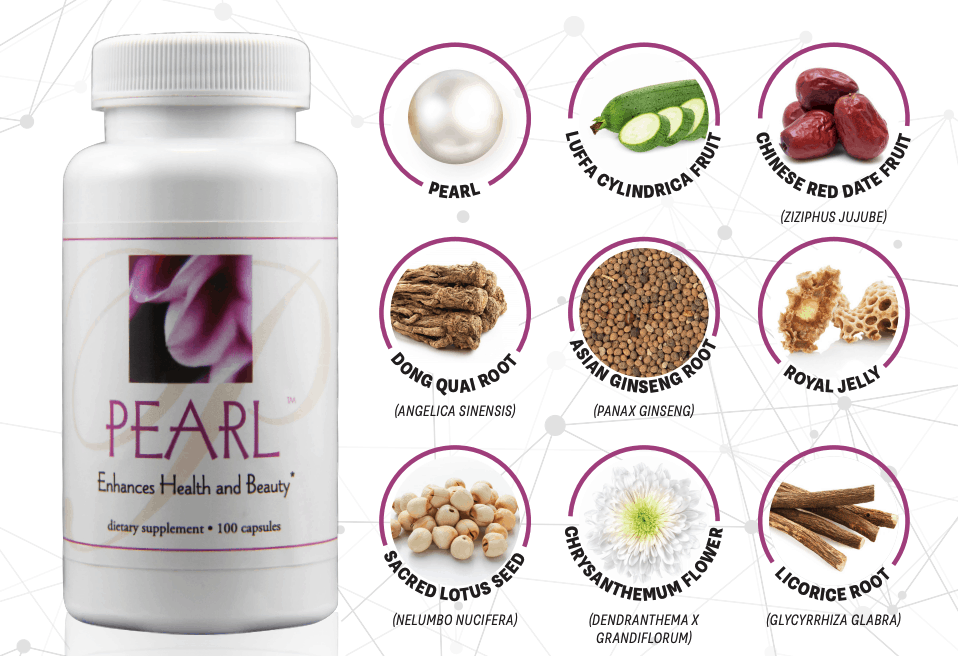 E Excel Nutritional Immunology PEARL radiating beauty support on Nourish Natural Wellness